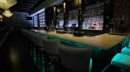 The chic and modern bar area at Avenue