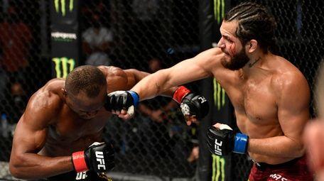 Jorge Masvidal battles Kamaru Usman in their welterweight