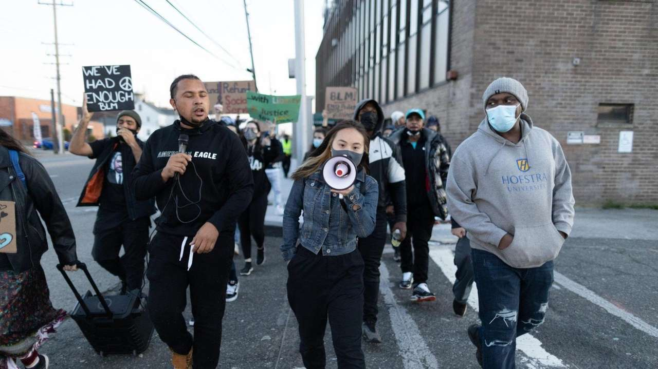 A march was held in Elmont on Friday
