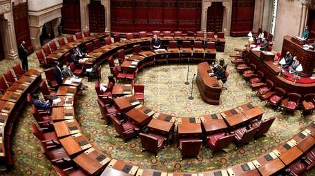 View of the New York state Senate Chamber