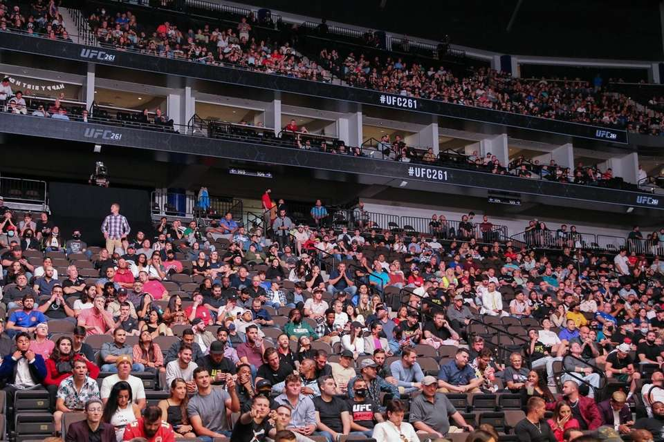 General view of the sold out crowd on
