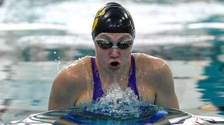 Denise Phelan of Northport-Commack takes the lead during