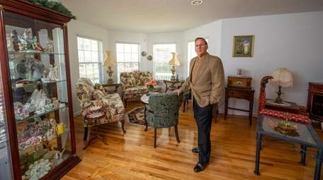 Vincent Valenti inside his Postmodern house in Manorville.