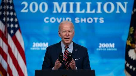 President Joe Biden speaks about COVID-19 vaccinations at