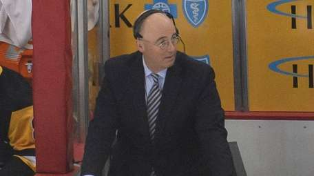 NBC Sports hockey analyst Pierre McGuire during an