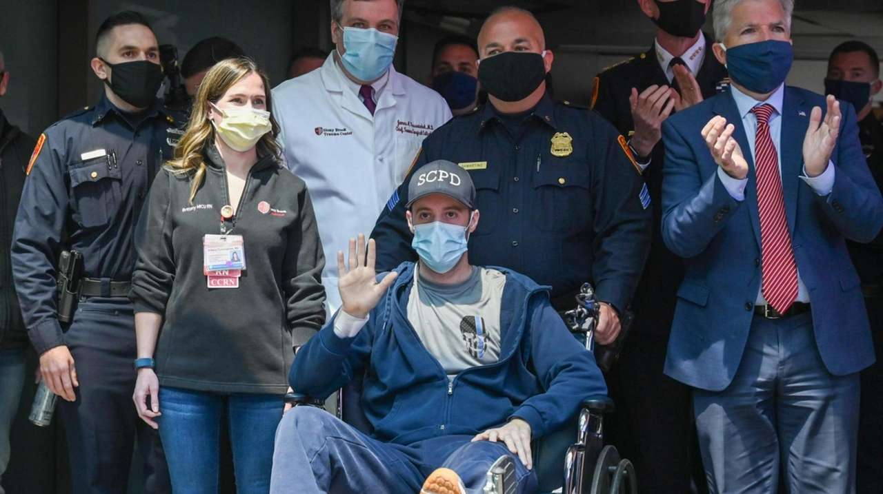 Suffolk County Police Officer Christopher Racioppo was released