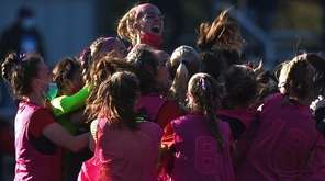 South Side teammates celebrate after their 4-2 win