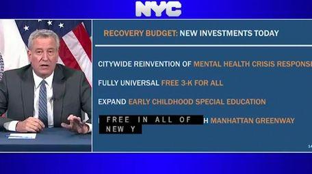On Monday, Mayor Bill de Blasio announced New