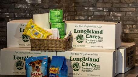 Long Island Cares' packages and boxes for the
