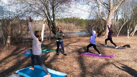 Yoga instructor Amy Hess held an hourlong class