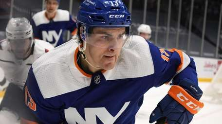Islanders center Mathew Barzal skates against the Capitals