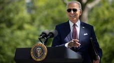 President Joe Biden speaks Tuesday on the White