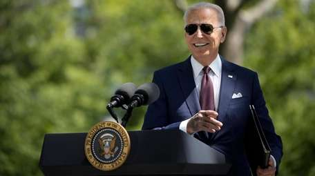 President Joe Biden speaks Tuesday on the White