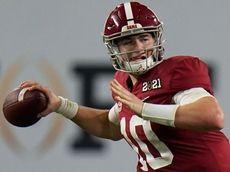 Alabama quarterback Mac Jones passes against Ohio State
