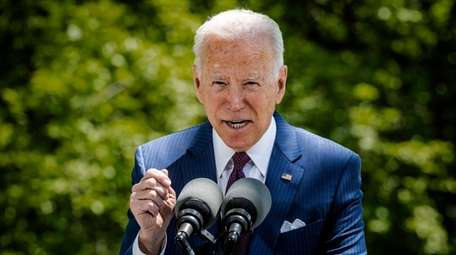 President Joe Biden delivers remarks on Tuesday in