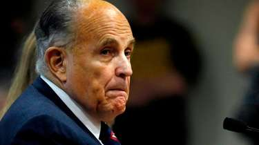 Rudy Giuliani, then-personal lawyer of former president Donald