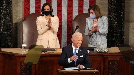 President Joe Biden speaks to a joint session