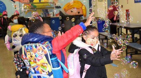 In Copiague, Great Neck Road Elementary School recently