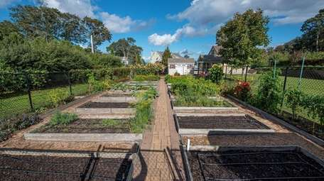 There is a fruit orchard and vegetable garden,