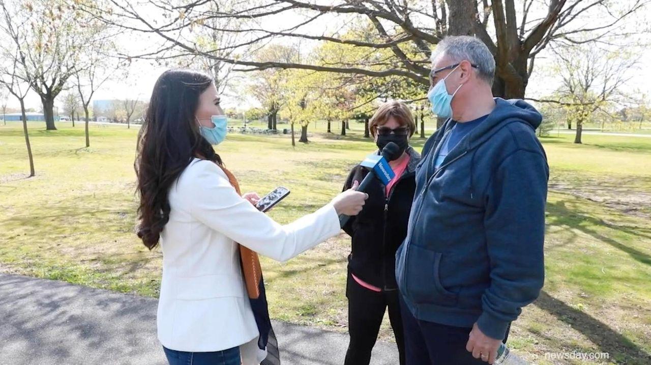 Newsday's Marissa Sarbak took to Eisenhower Park to