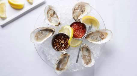North Fork oysters at Claudio's in Greenport.