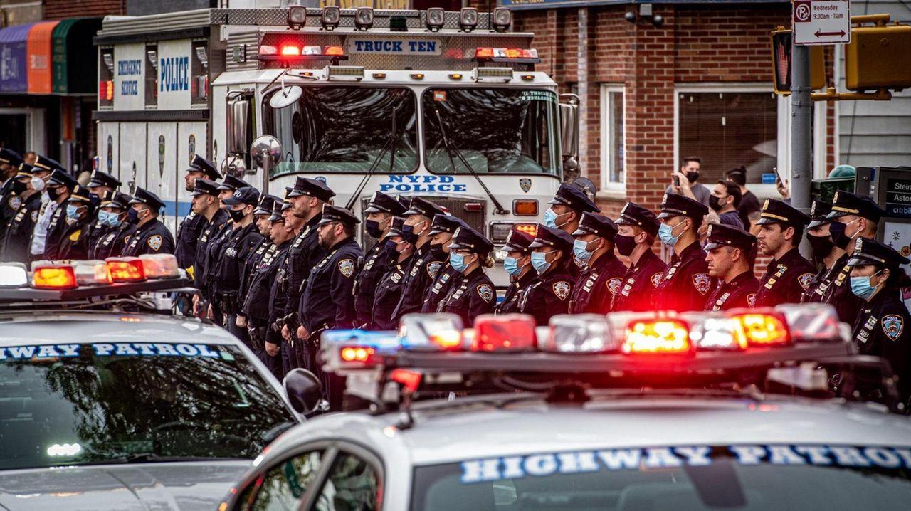 The body of NYPD Officer Anastasios Tsakos, an