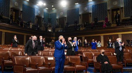 Sen. Chuck Schumer at President Joe Biden's address