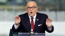 Rudy Giuliani at the Jan. 6 rally that