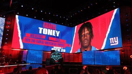 NFL Commissioner Roger Goodell announces Kadarius Toney as