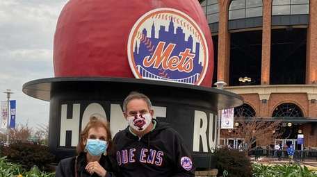 Jeff and Claudia Stern outside of CitiField on