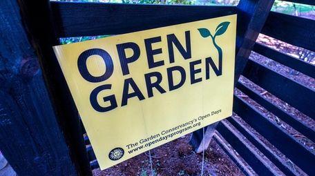 "A Garden Conservancy ""Open Days"" sign at Landcraft"