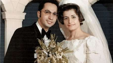 Anthony and Agatha Monteleone on their wedding day,