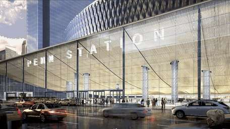Rendering of the 8th Avenue entrance to the