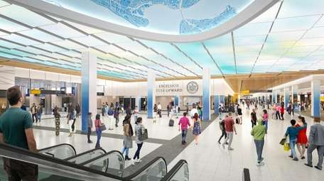 Rendering of LIRR 33rd Street concourse.