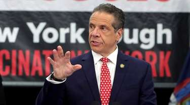 Gov. Andrew M. Cuomo holds a press briefing