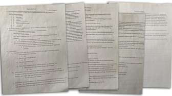 These are pages from the questions and answers
