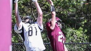 Wantagh's Ryan Graham grabs the touchdown pass over