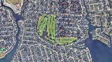Google Earth view of the Peninsula Golf Course