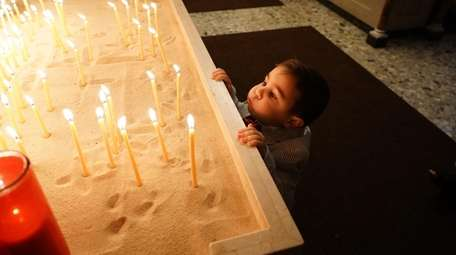 Andrew Moshus, 3, of Rockville Centre, at the