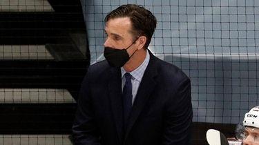 Rangers head coach David Quinn against the Islanders