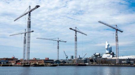 The Norfolk Naval Shipyard in Virginia is one