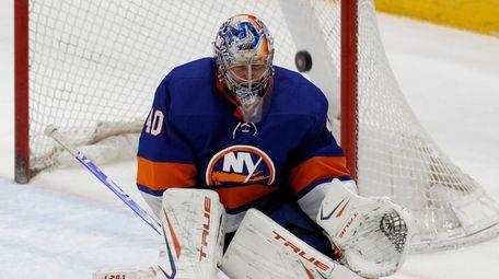 Semyon Varlamov #40 of the New York Islanders