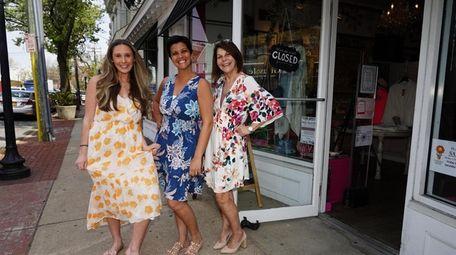 Shoppers Sara Seaquist, of Bay Shore, Nicole Armyn,