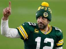 Packers quarterback Aaron Rodgers after an NFL divisional