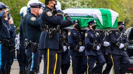The wake for NYPD Officer Anastasios Tsakos, 43,