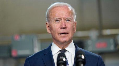President Joe Biden speaks at Tidewater Community College