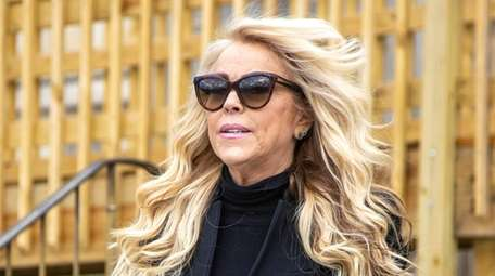 Dina Lohan is seen at the Nassau County