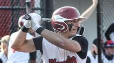 Plainedge's Joe Leone waits for his pitch during