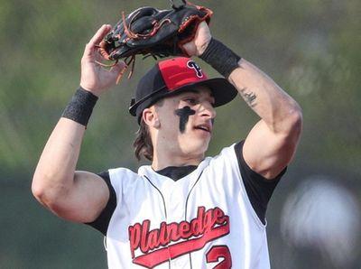 Plainedge shortstop Joe Leone makes the catch during