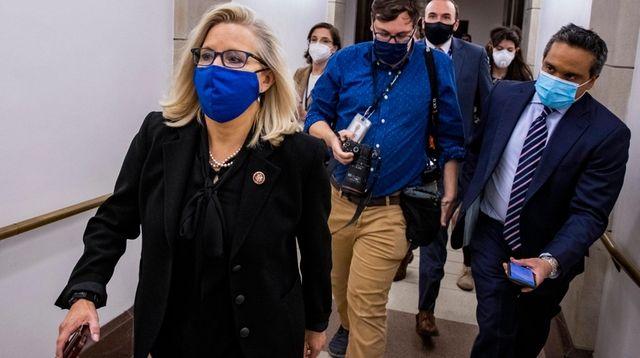Rep. Liz Cheney (R-Wyo.) heads to the House